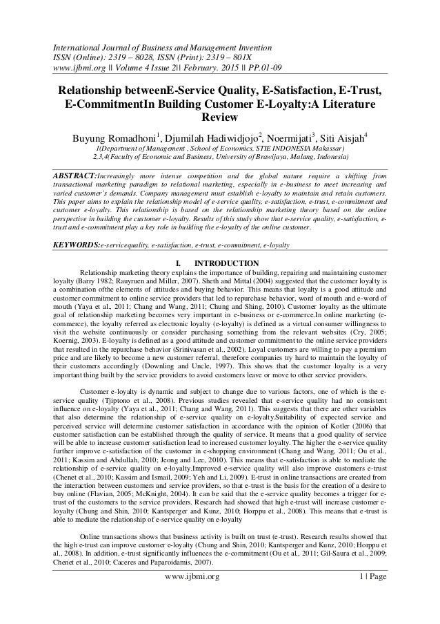 Customer service literature review