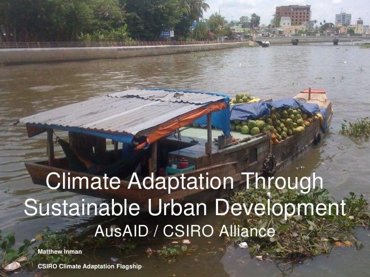 Climate Adaptation Through Sustainable Urban Development