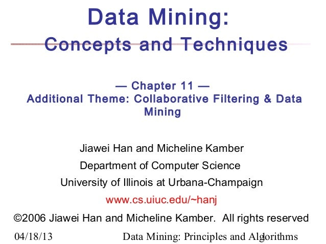 Chapter -11 Data Mining Concepts and Techniques 2nd Ed slides Han & Kamber