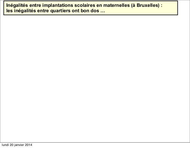 Inégalités entre implantations scolaires en maternelles (à Bruxelles) : les inégalités entre quartiers ont bon dos …  lund...