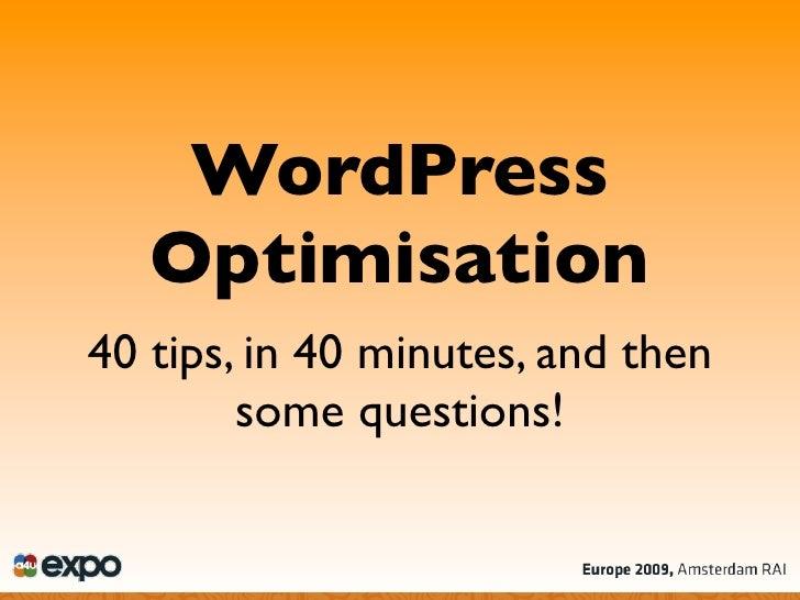 WordPress Optimisation Strategies