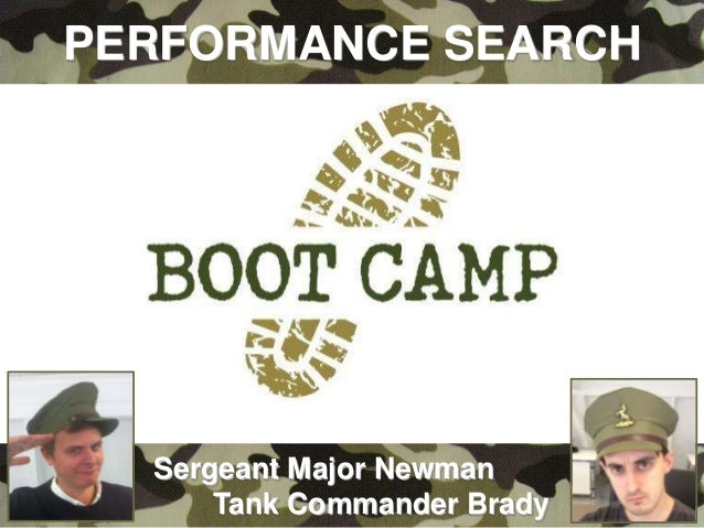 The Performance Search Boot Camp - Pete Newman. Found