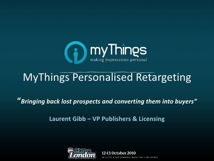 Behavioural Re-targeting and Performance Marketing - Laurent Gib