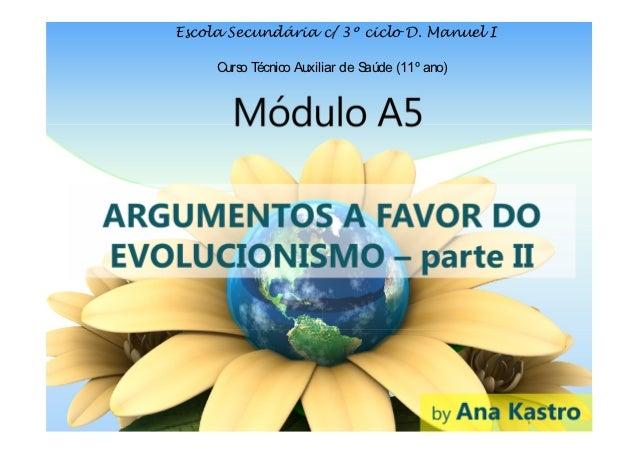 4 -  Argumentos a favor do evolucionismo (parte II)