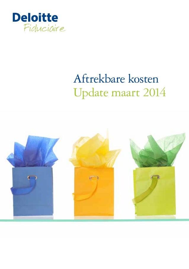 Aftrekbare kosten Update maart 2014