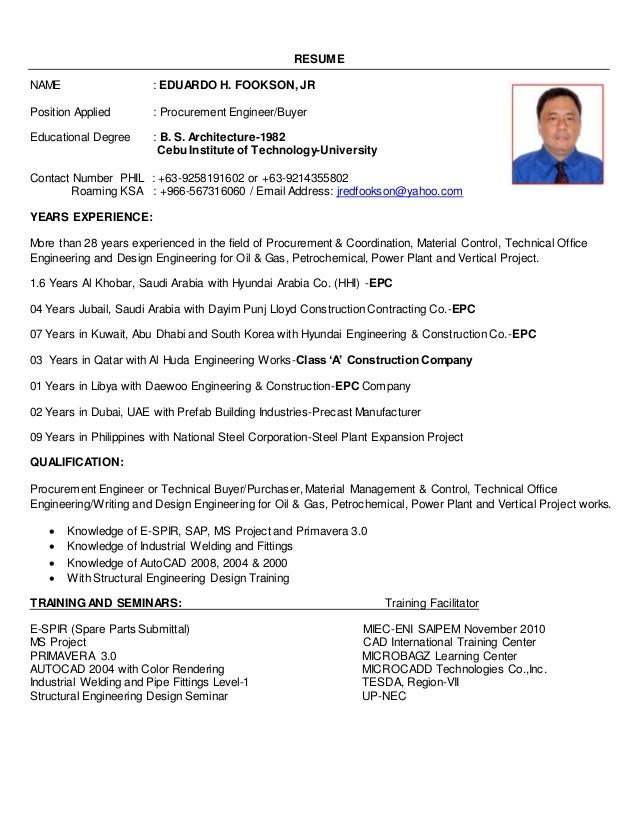 Construction Site Engineer Resume