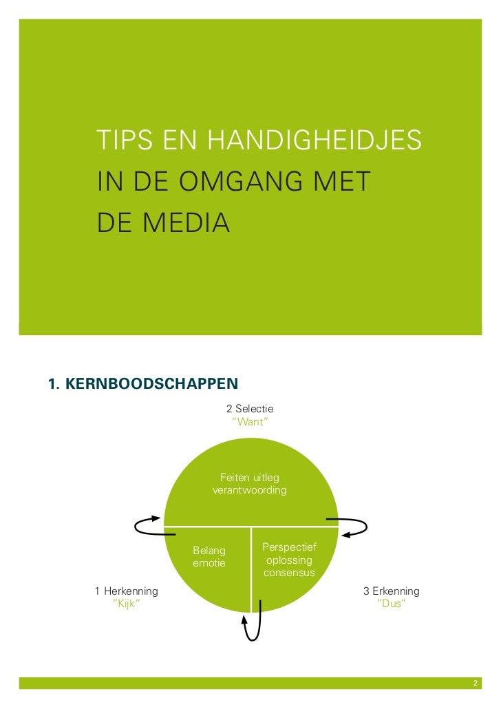 Tips en handigheidjes - in de omgang met de media