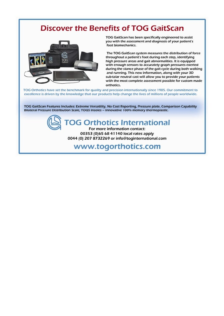 Discover the benefits of TOG Gaitscan