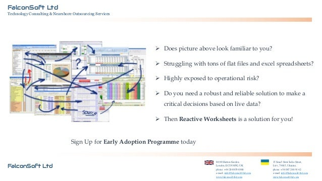 FalconSoft Ltd Technology Consulting & Nearshore Outsourcing Services   Does picture above look familiar to you?  Strugg...