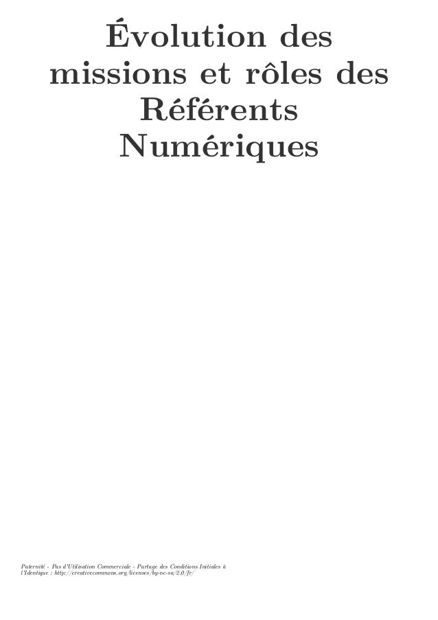 Évolution des missions et rôles des Référents Numériques Paternité - Pas d'Utilisation Commerciale - Partage des Condition...