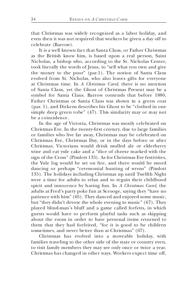 essays a christmas carol summary