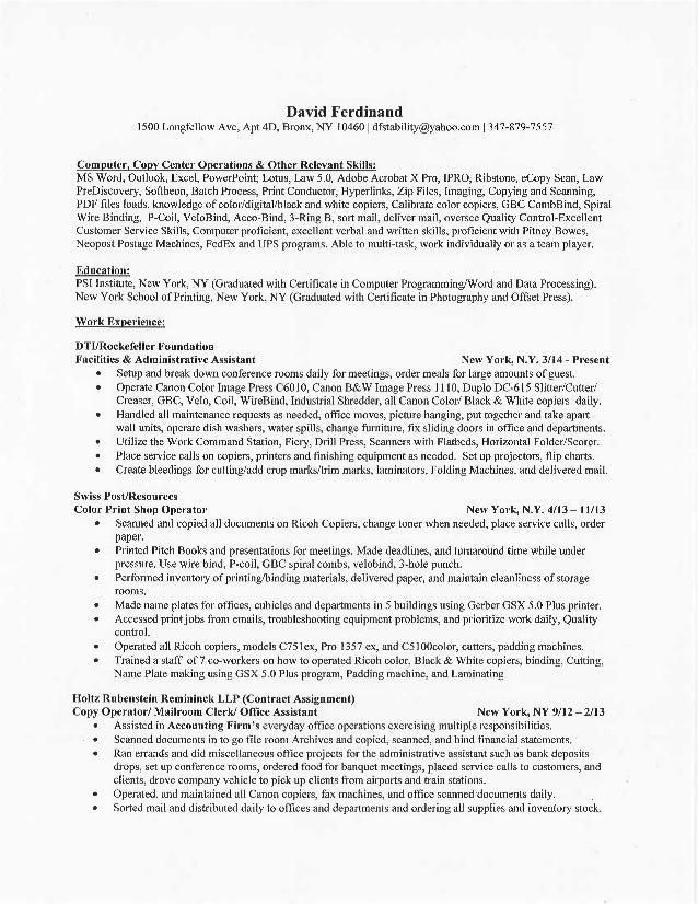 david ferdinand resume