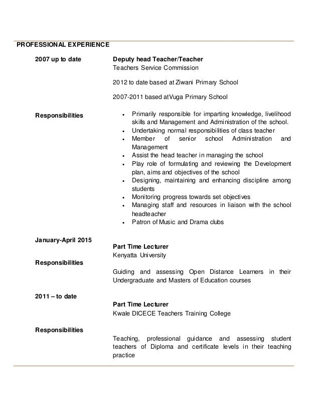 sample resume teacher development workshops for a modern