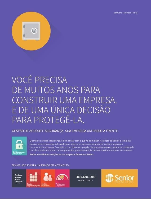 Anúncio Gestão de Acesso e Segurança | Campanha 2014