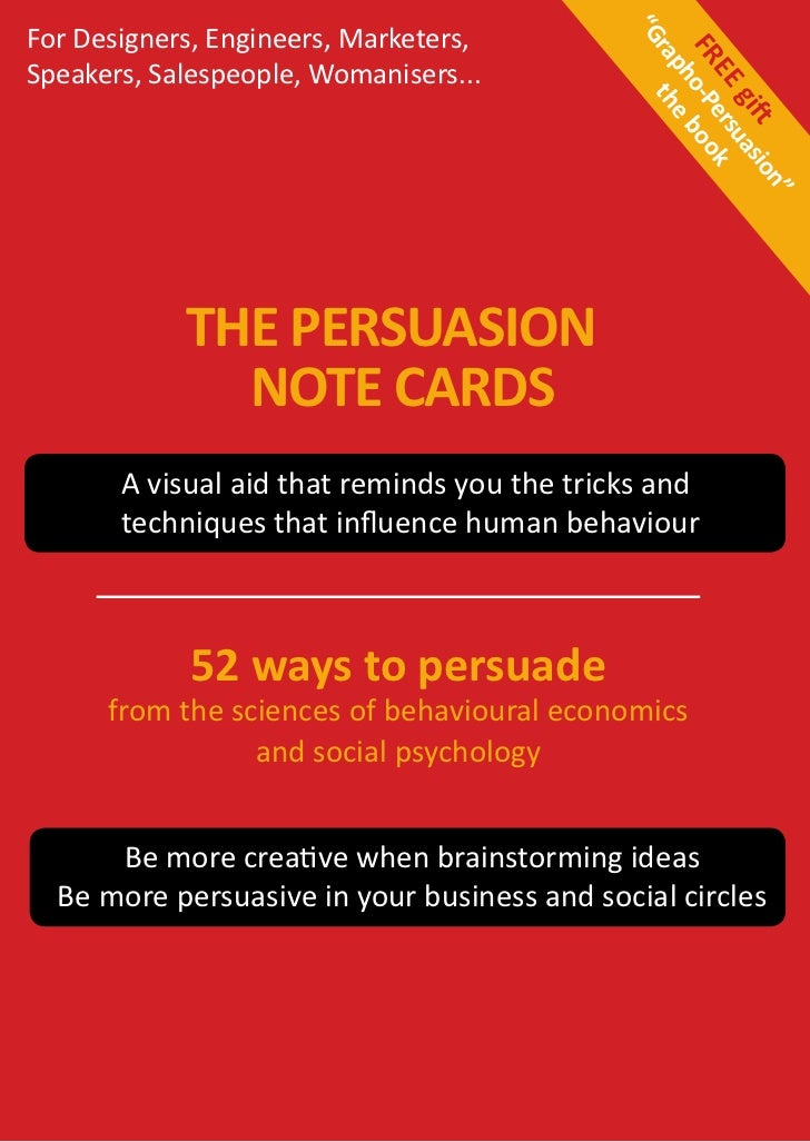 Flyer - Persuasion Note Cards