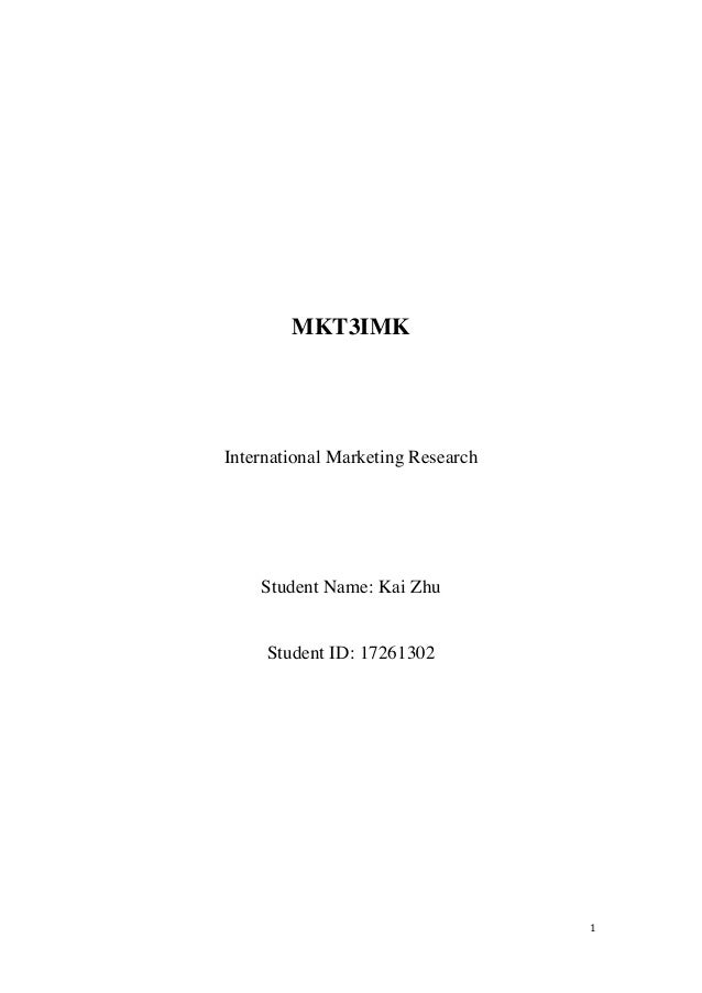 international marketing research papers