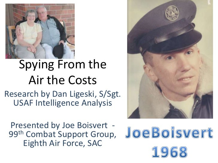 Spying From the     Air the CostsResearch by Dan Ligeski, S/Sgt.  USAF Intelligence Analysis Presented by Joe Boisvert - 9...