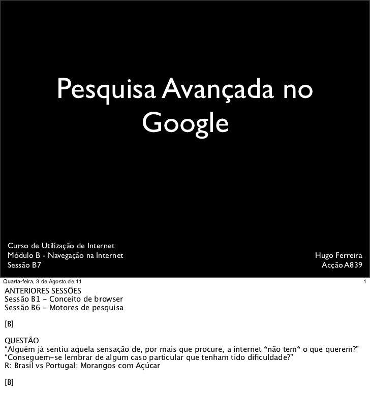 Dicas de pesquisa no Google