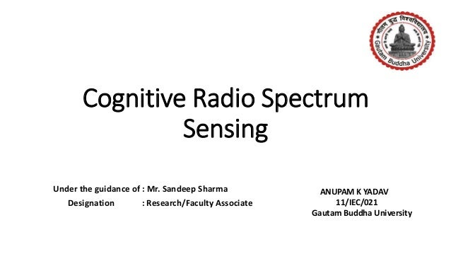 Spectrum sensing cognitive radio thesis
