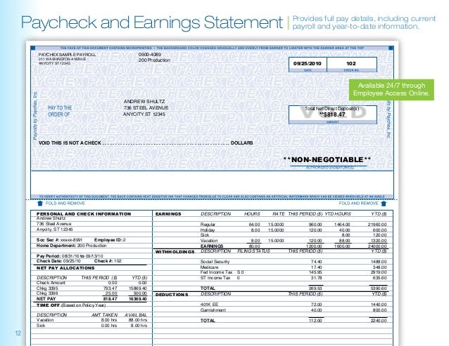 Paychex About Paychex And Sample Reports