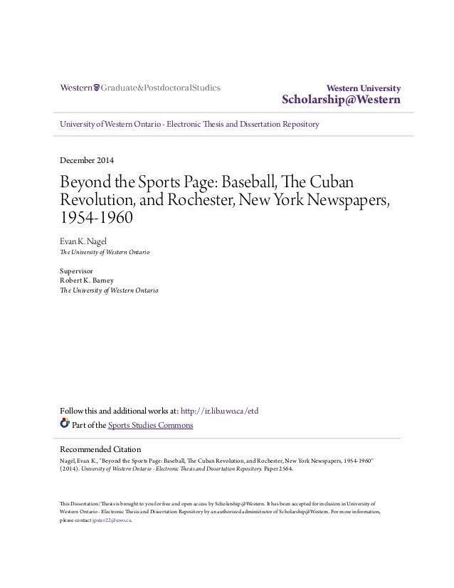 Uwo thesis monograph
