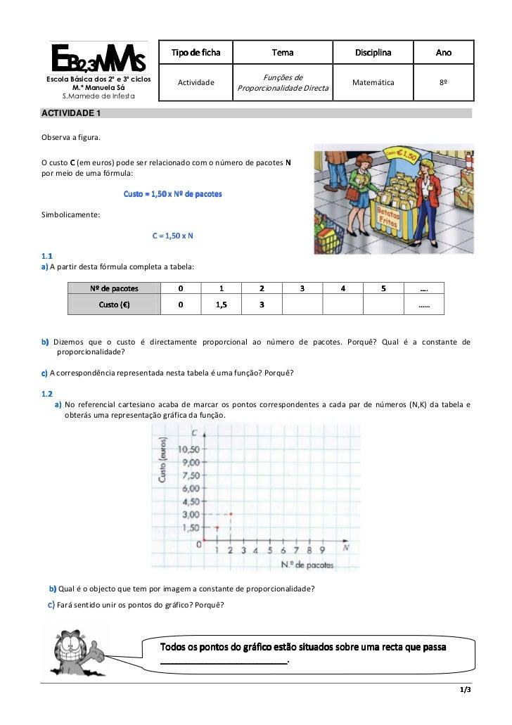 Tipo de ficha                  Tema                  Disciplina        Ano Escola Básica dos 2º e 3º ciclos               ...