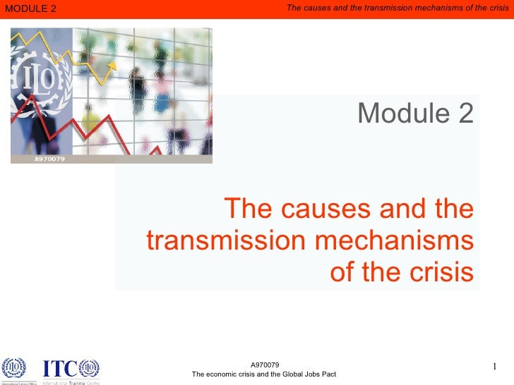 Module 2 The causes and the transmission mechanisms of the crisis