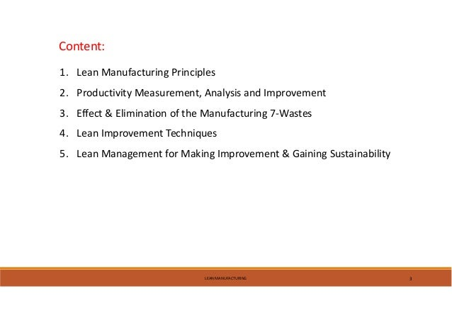 Lean Manufacturing Toyota Production System