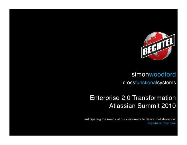 simonwoodford                            crossfunctionalsystems      Enterprise 2.0 Transformation          Atlassian S...