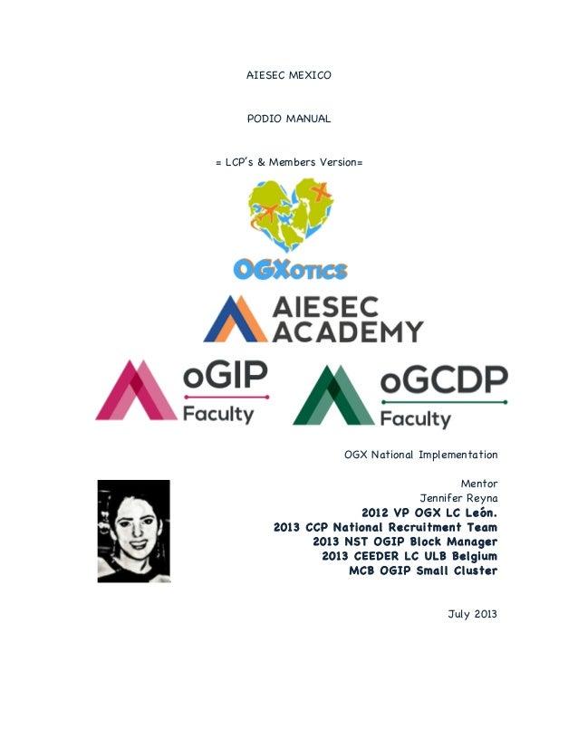 AIESEC Academy | PODIO Manual (OGX)