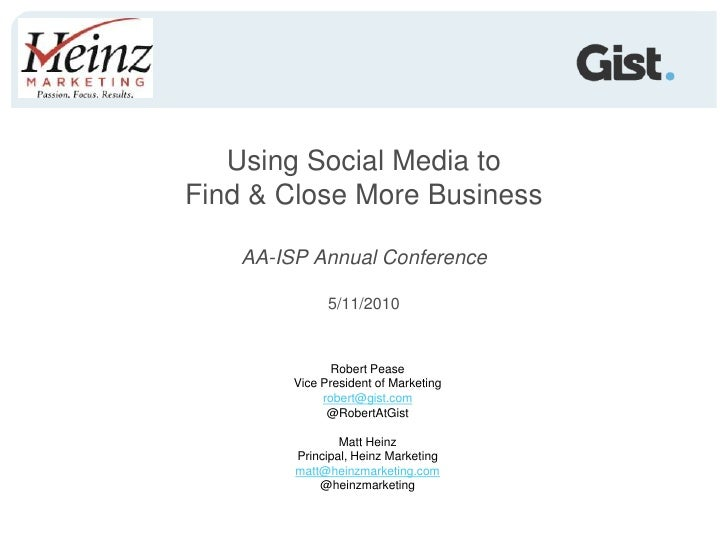 Using Social Media to Find & Close Business