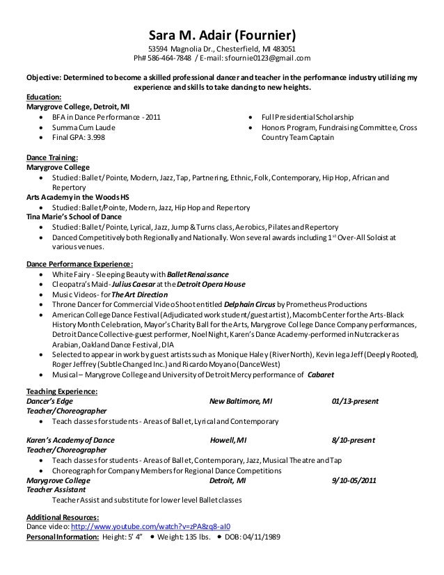 dancer resume dancer resume objective to get a position as dancer and to get further roles in this field professional experience given various stage