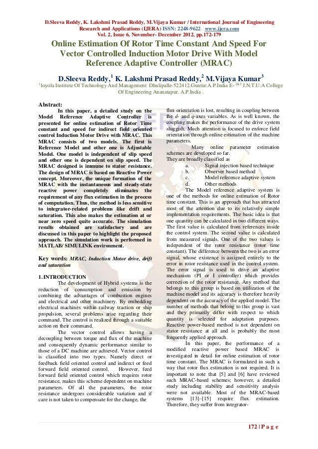 D.Sleeva Reddy, K. Lakshmi Prasad Reddy, M.Vijaya Kumar / International Journal of Engineering                  Research a...