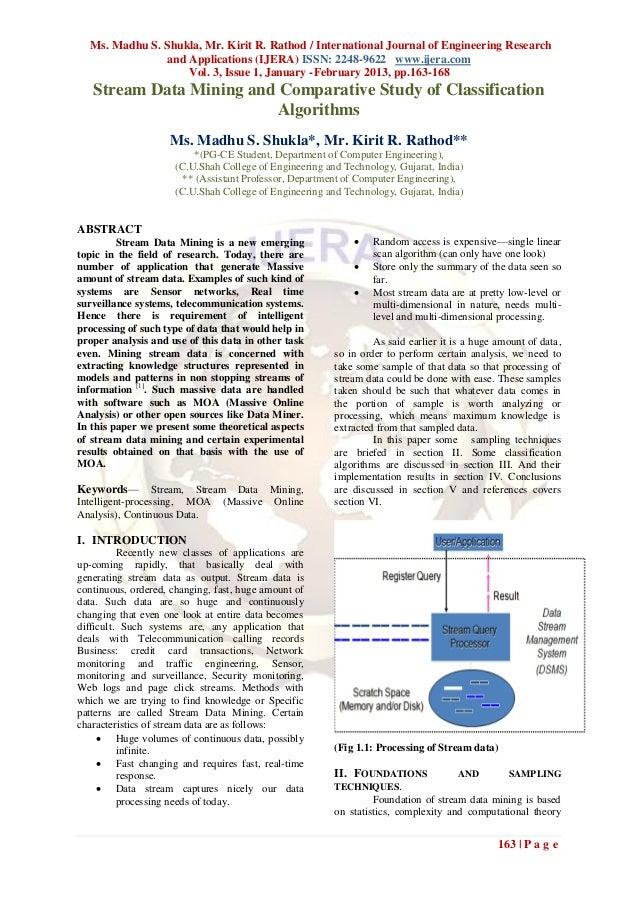 Ms. Madhu S. Shukla, Mr. Kirit R. Rathod / International Journal of Engineering Research               and Applications (I...