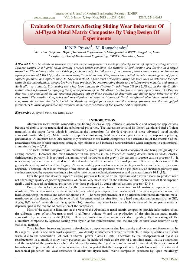 Evaluation Of Factors Affecting Sliding Wear Behaviour Of Al-Flyash Metal Matrix Composites By Using Design Of Experiments