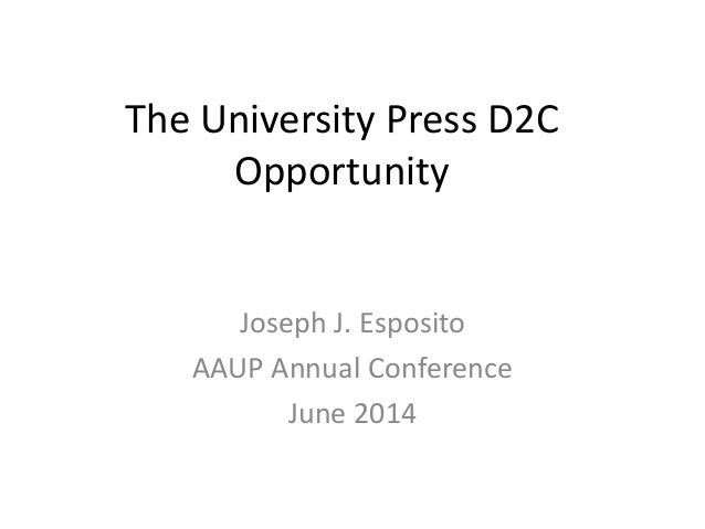 AAUP 2014: Audiences and Analytics (J. Esposito)