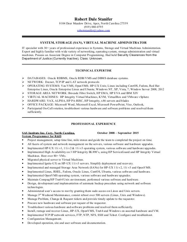 Resume clinical sas programmer