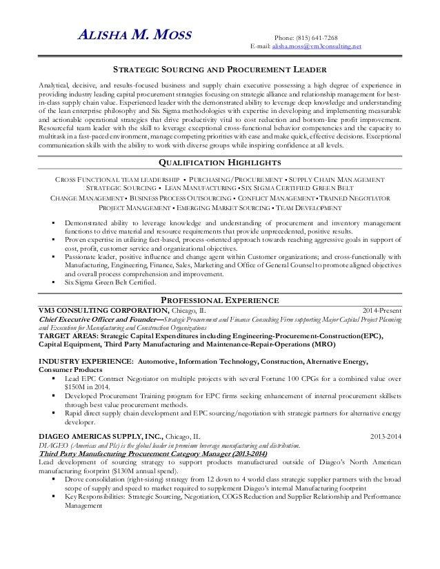 resume of alisha moss 3996