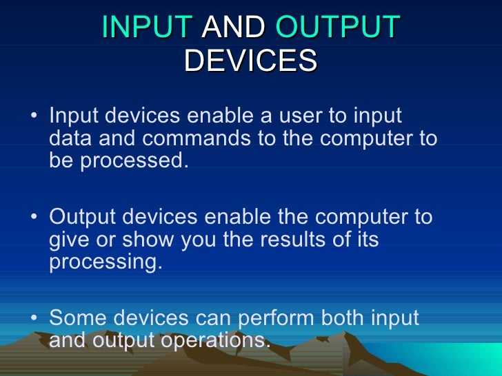 essay about input devices