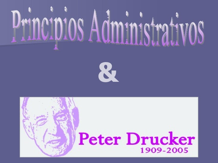 Principios Administrativos &