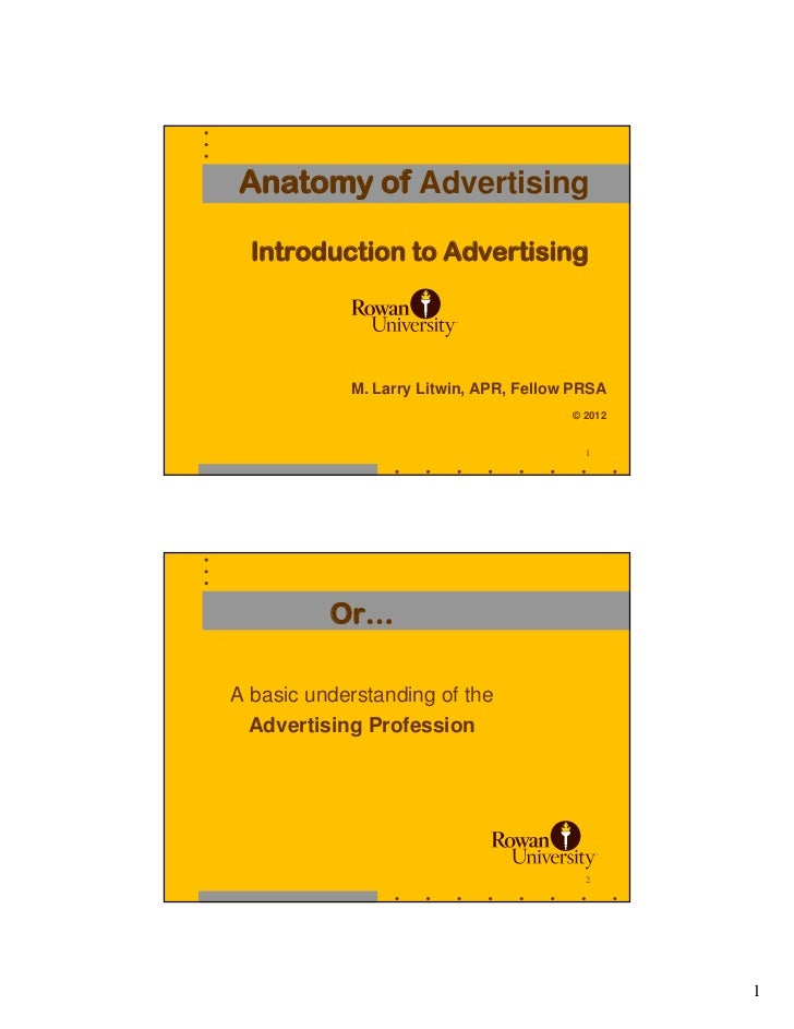 Anatomy of Advertising