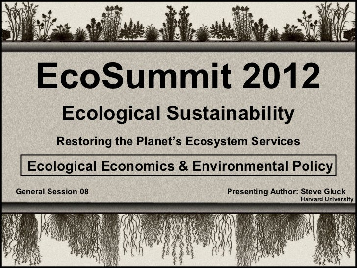 Eco-Summit 2012 - Gluck