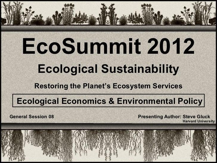 Eco-Summit 2012 - Gluck