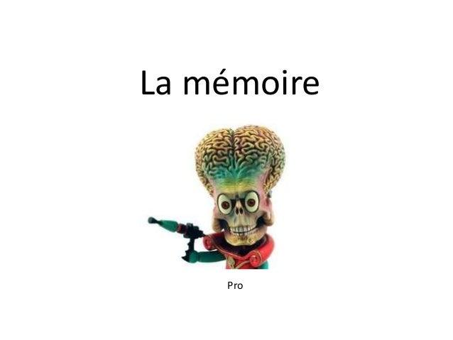 La mémoire    Pro
