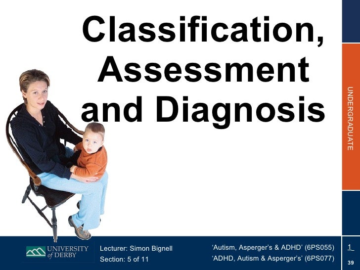 Classification, Assessment and Diagnosis