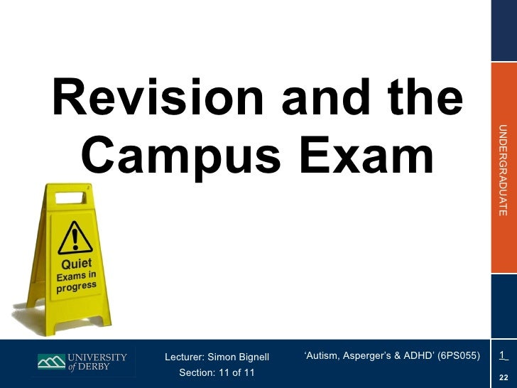 Section 11 (On-Campus) - Revision and the Exam