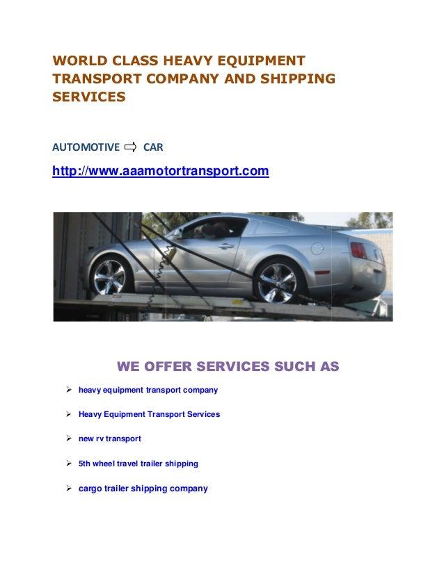Heavy equipment transport company 5th wheel travel cargo for Motor cargo freight company