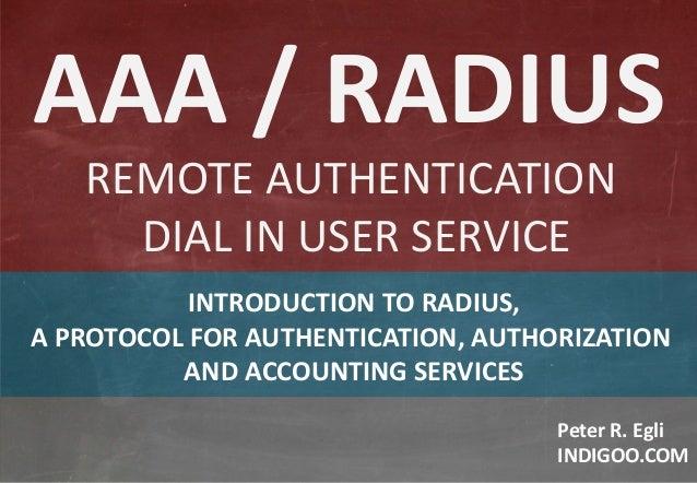 AAA & RADIUS Protocols