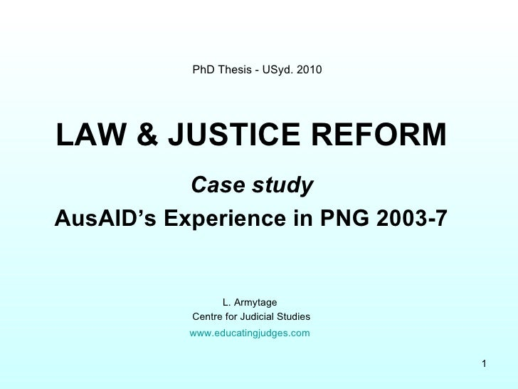 Armytage: PNG Justice Study, 2010