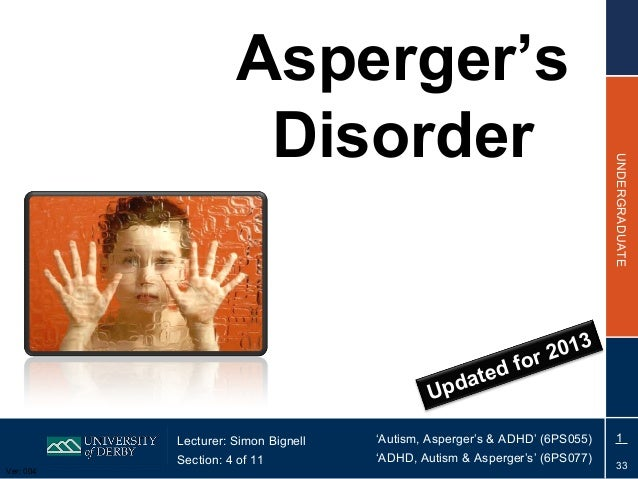 AAA Section 04 Asperger's Disorder Ver 04 2013